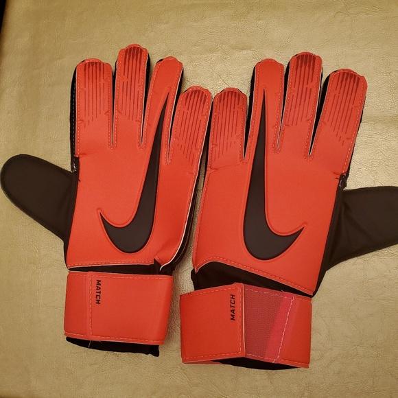 Nike GK Match Soccer Goal Keeper Gloves Red Black